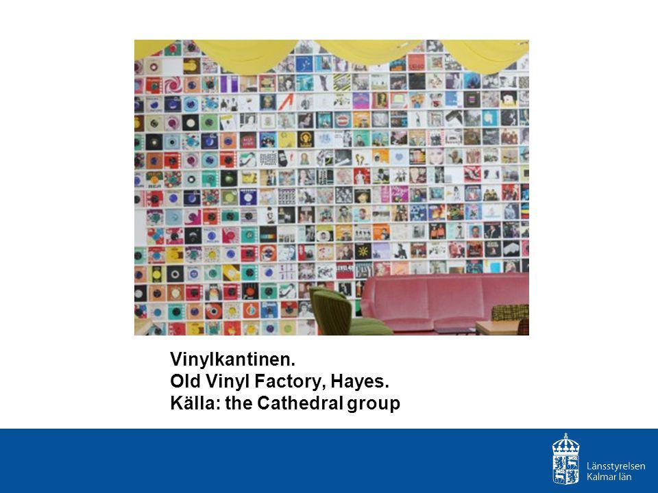 Vinylkantinen. Old Vinyl Factory, Hayes. Källa: the Cathedral group
