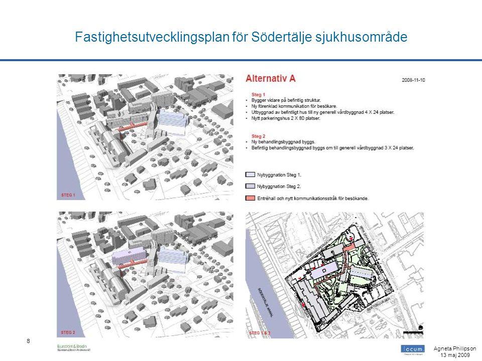 8 Fastighetsutvecklingsplan för Södertälje sjukhusområde Agneta Philipson 13 maj 2009