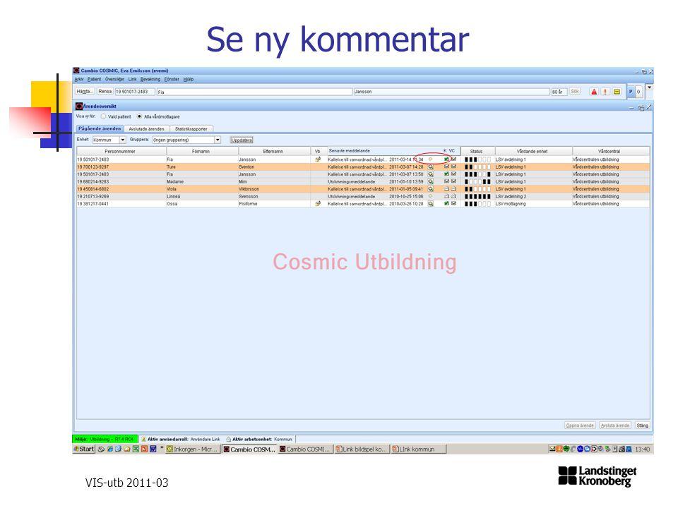 VIS-utb 2011-03 Se ny kommentar