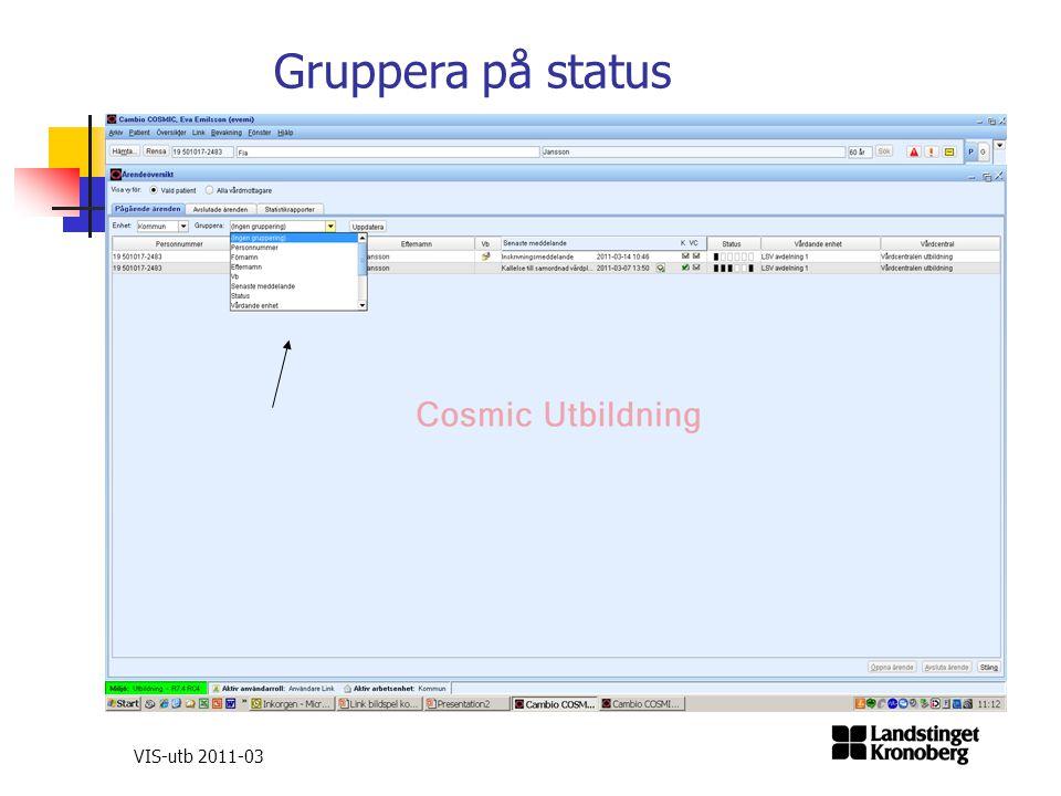 Gruppera på status VIS-utb 2011-03