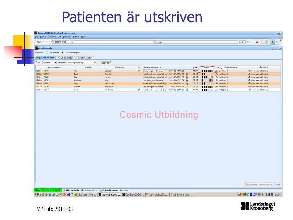 VIS-utb 2011-03 Patienten är utskriven