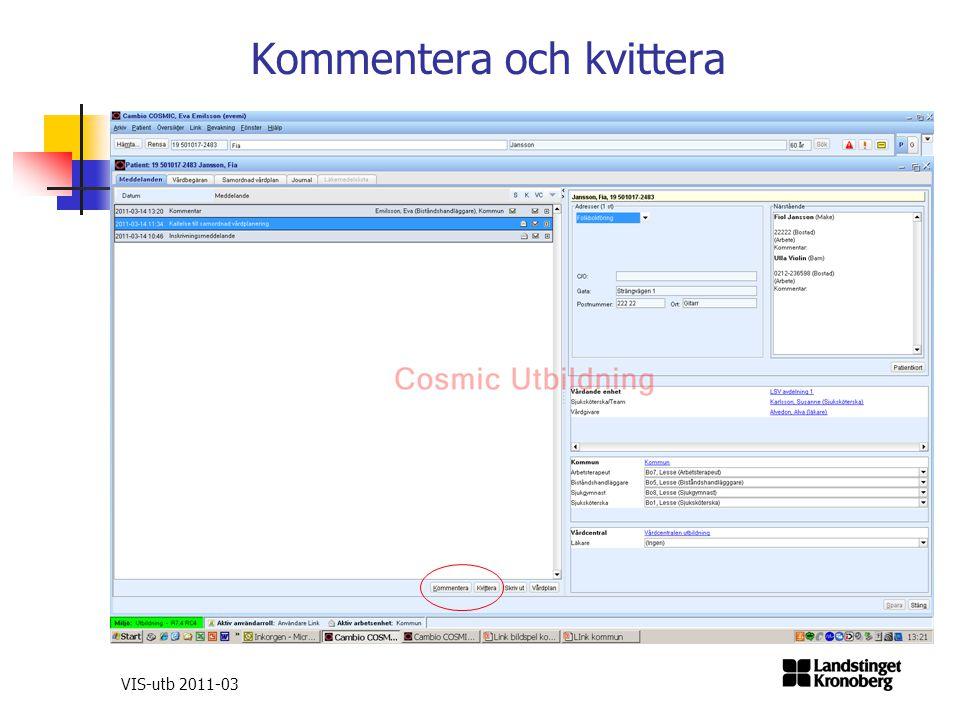 Kommentera och kvittera VIS-utb 2011-03