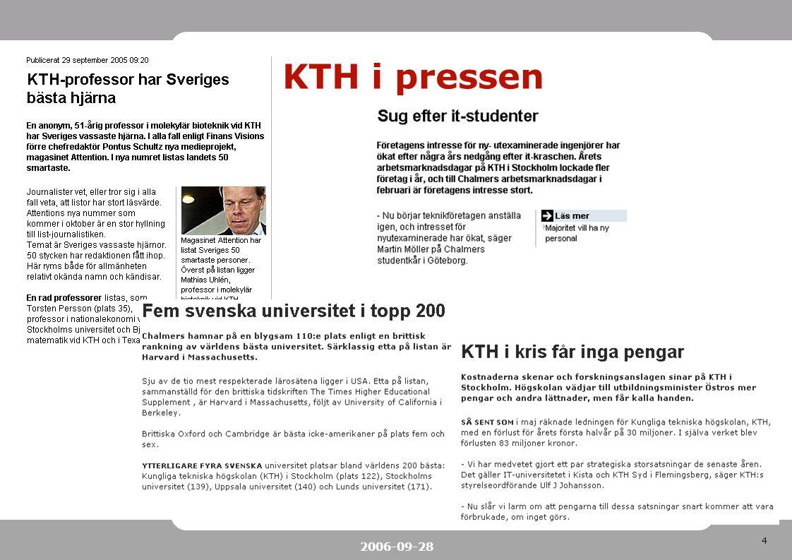5 2006-09-28 VIS projektet Start 2004-03 slut 2005-12 Beslutsstödsystem VIS står för VerksamhetsInformationsStöd Förvaltning – VIS grupp (matrisorganisation)