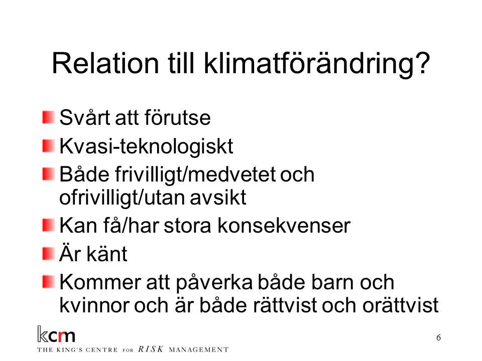 6 Relation till klimatförändring.