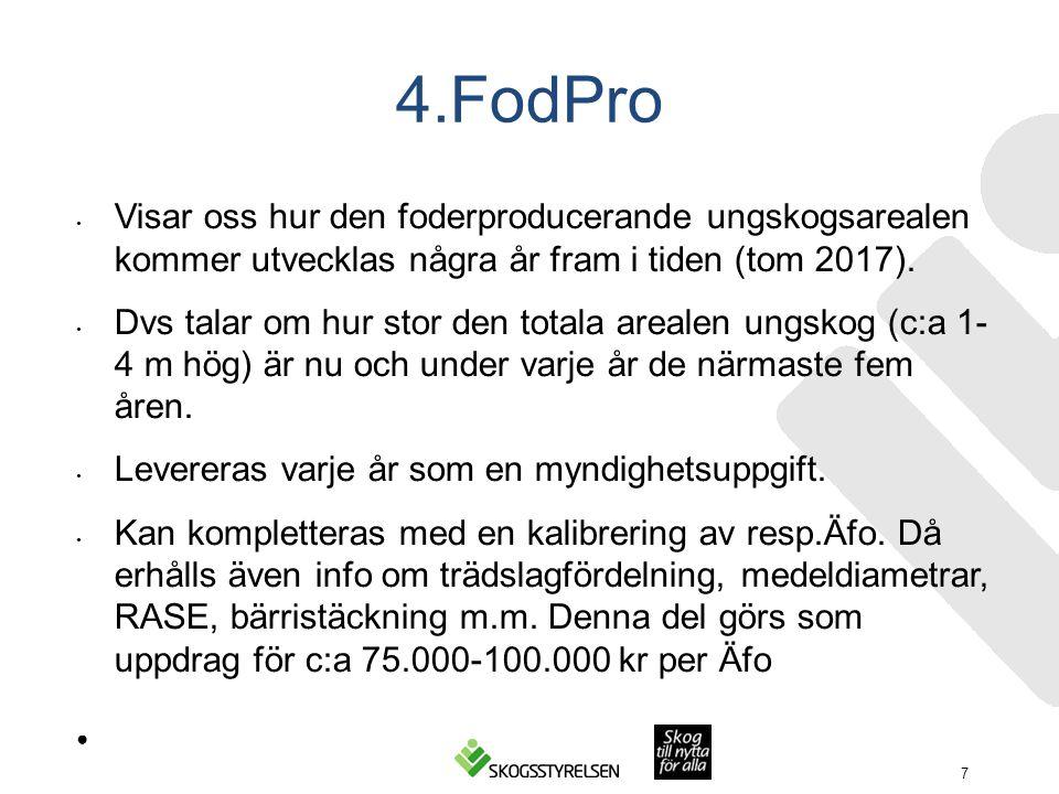 4.FodPro Visar oss hur den foderproducerande ungskogsarealen kommer utvecklas några år fram i tiden (tom 2017).