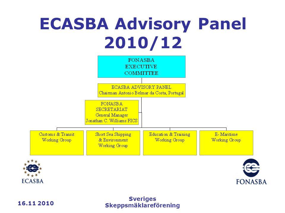 16.11 2010 Sveriges Skeppsmäklareförening ECASBA Advisory Panel 2010/12