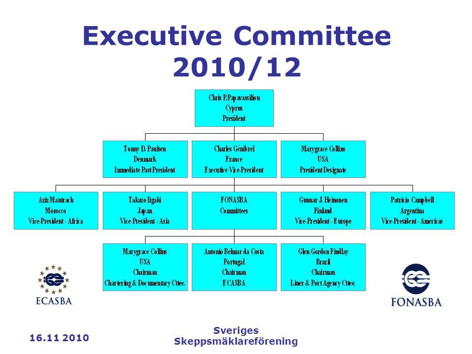 16.11 2010 Sveriges Skeppsmäklareförening Executive Committee 2010/12