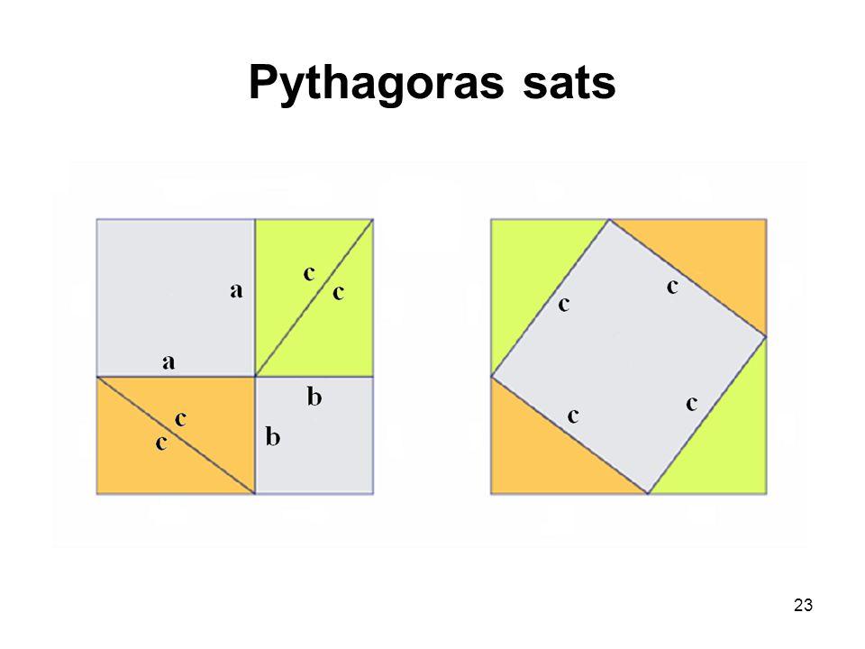 23 Pythagoras sats