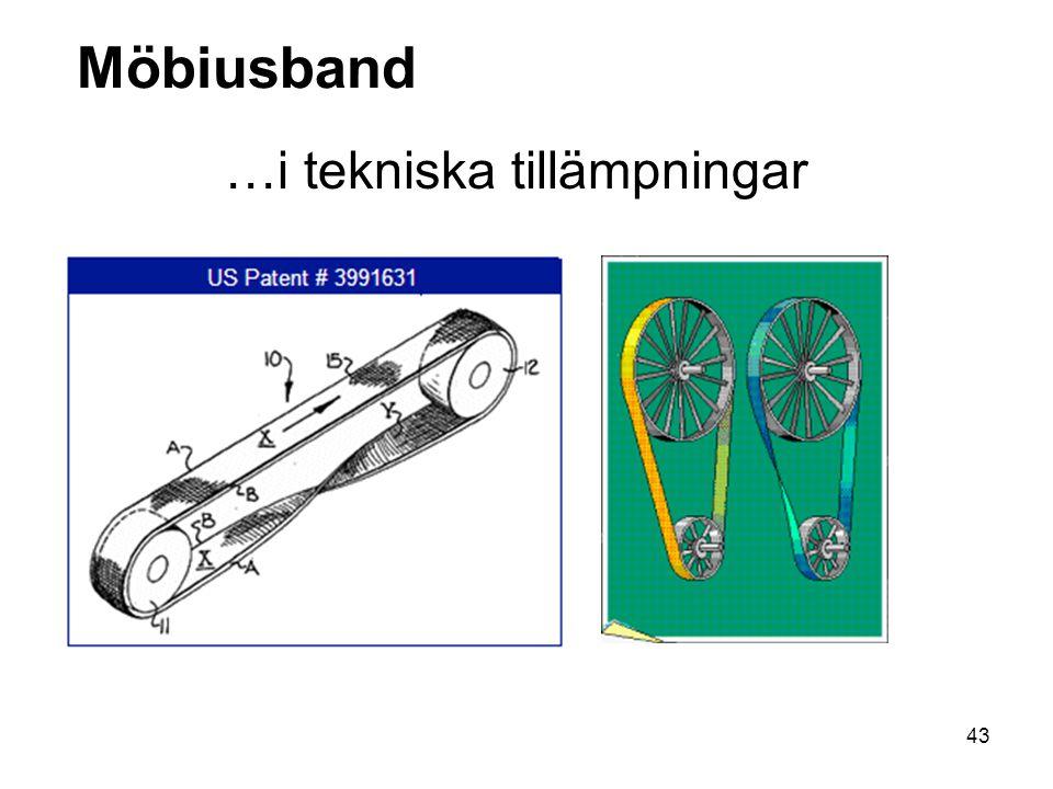 43 Möbiusband …i tekniska tillämpningar