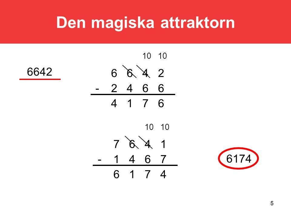 5 6714 6642- 2466 10 6642 6174 4716 7641- 1467 10 Den magiska attraktorn