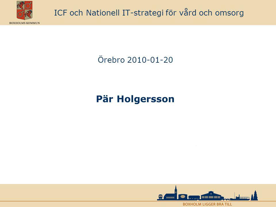 Erfarenheter från användning av ICF Vad står ICF för och vilka områden täcks in.