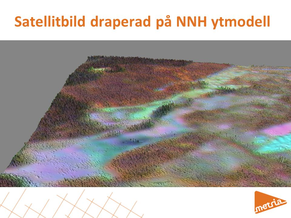 Satellitbild draperad på NNH ytmodell