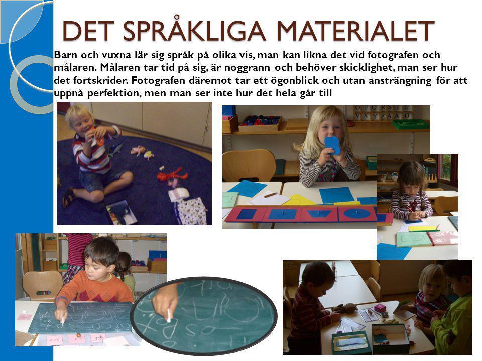 DET SPRÅKLIGA MATERIALET Barn och vuxna lär sig språk på olika vis, man kan likna det vid fotografen och målaren. Målaren tar tid på sig, är noggrann