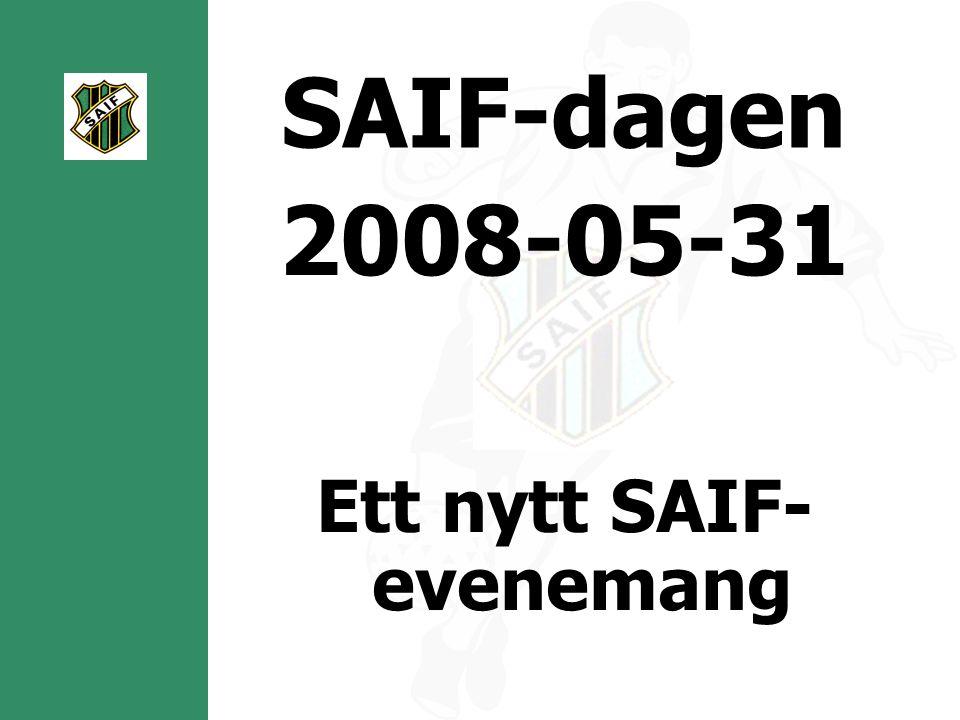 SAIF-dagen 2008-05-31 Ett nytt SAIF- evenemang