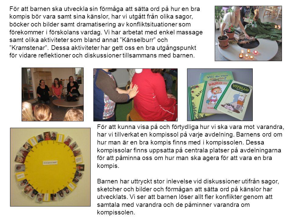 Ett mål i arbetsplanen som vi arbetat med under läsåret är barns inflytande.