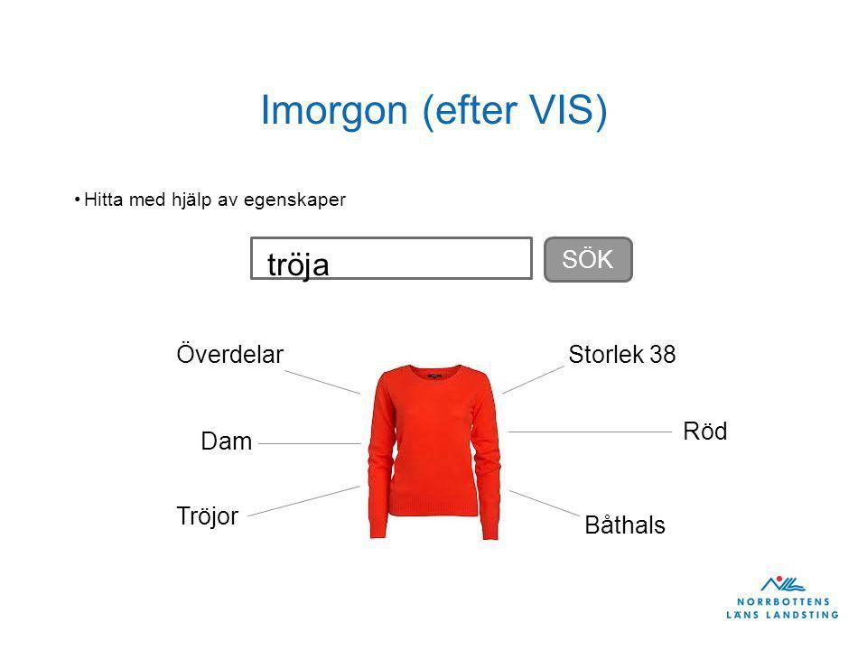 Imorgon (efter VIS) Hitta med hjälp av egenskaper Dam Röd Överdelar Tröjor Storlek 38 Båthals SÖK tröja
