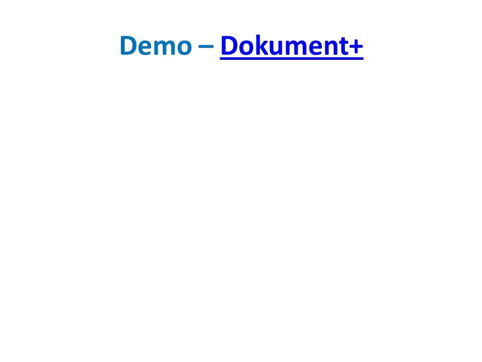 Demo – Dokument+Dokument+