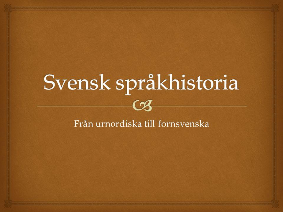 Från urnordiska till fornsvenska