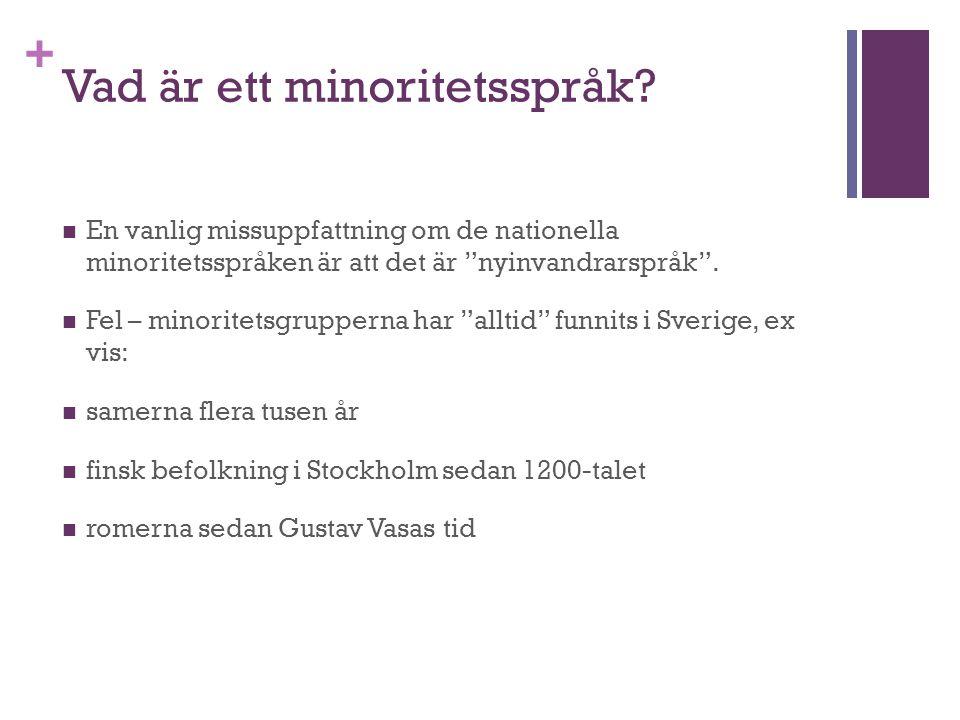 + Vad är ett minoritetsspråk.
