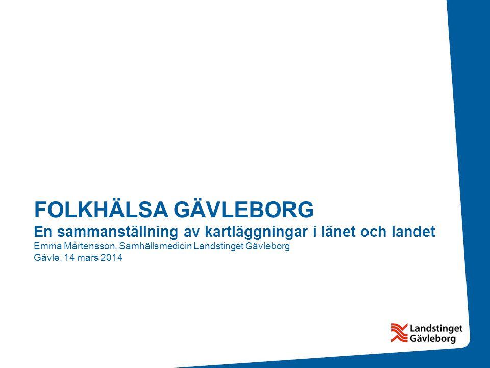 I jämförelse med övriga län är andelen utrikes födda i Gävleborgs län lägre än både rikets genomsnitt och 13 av de övriga av länen 9,5 % av Gävleborgs befolkning är födda i ett annat land än Sverige.