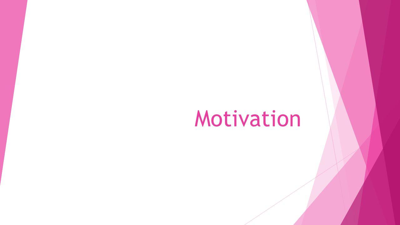 Vad är motivation.Motivation betyder drivkraft.