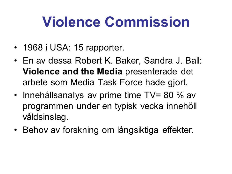 Violence Commission 1968 i USA: 15 rapporter. En av dessa Robert K.