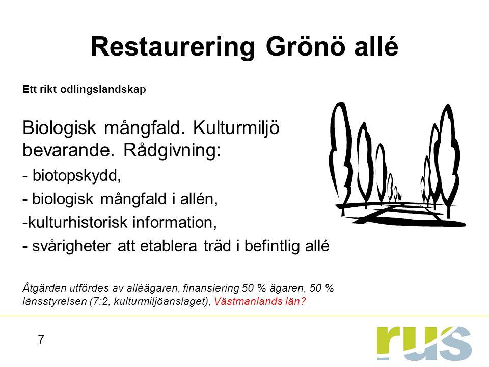58 Halland inspirerar till inventering av kulturhistoriskt värdefull bebyggelse för miljömålet God bebyggd miljö.