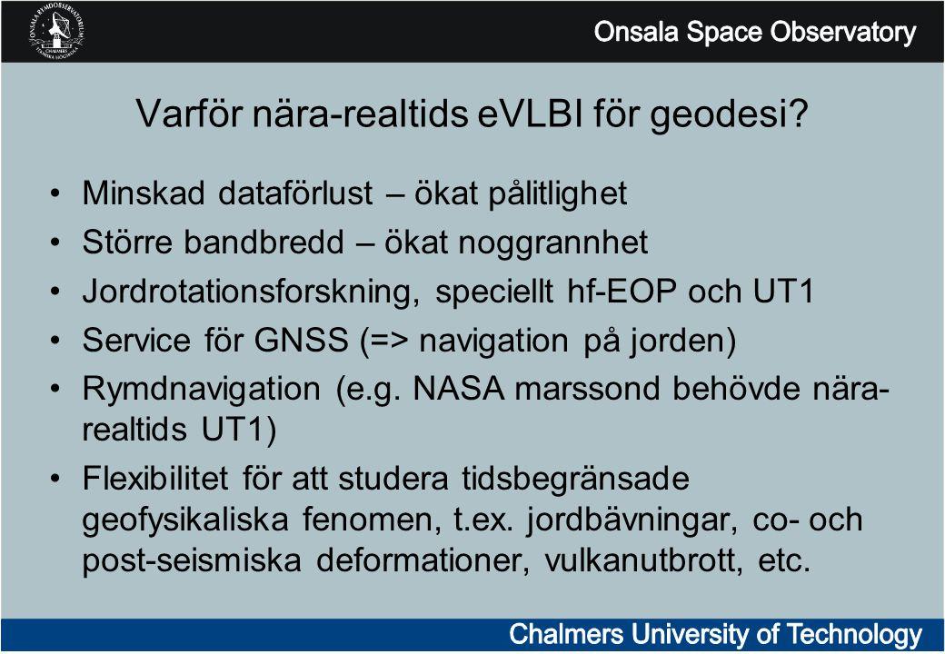 Varför nära-realtids eVLBI för geodesi.