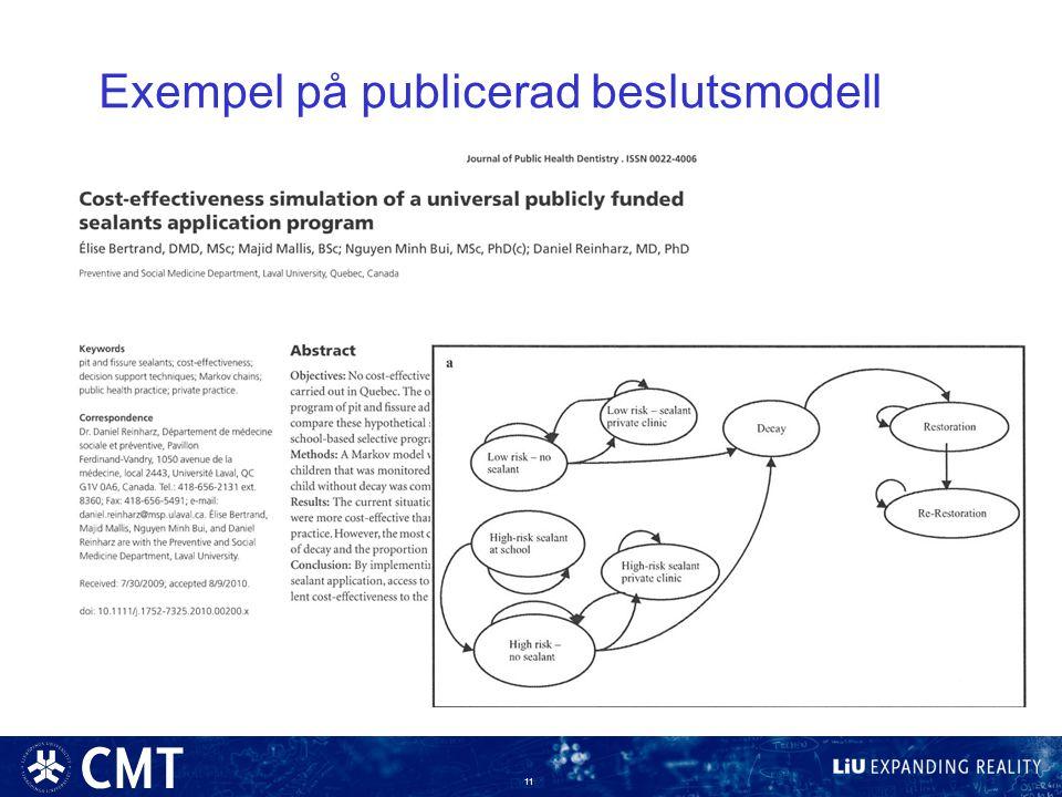 Exempel på publicerad beslutsmodell 11
