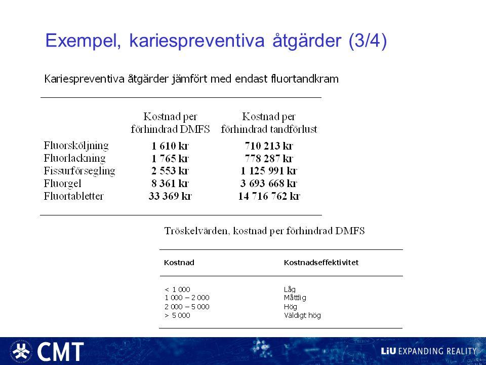 Exempel, kariespreventiva åtgärder (3/4)