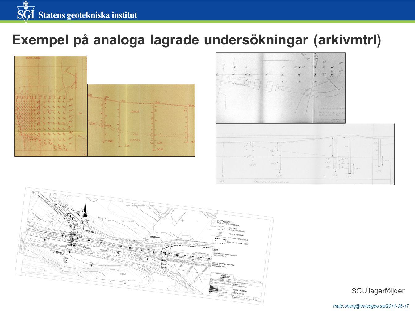 mats.oberg@swedgeo.se/2011-08-17 Slutsatser, forts  Dataflödet från Geosuite till WMS-tjänst utanför Trafikverket är identifierat men åberopar flera frågetecken.