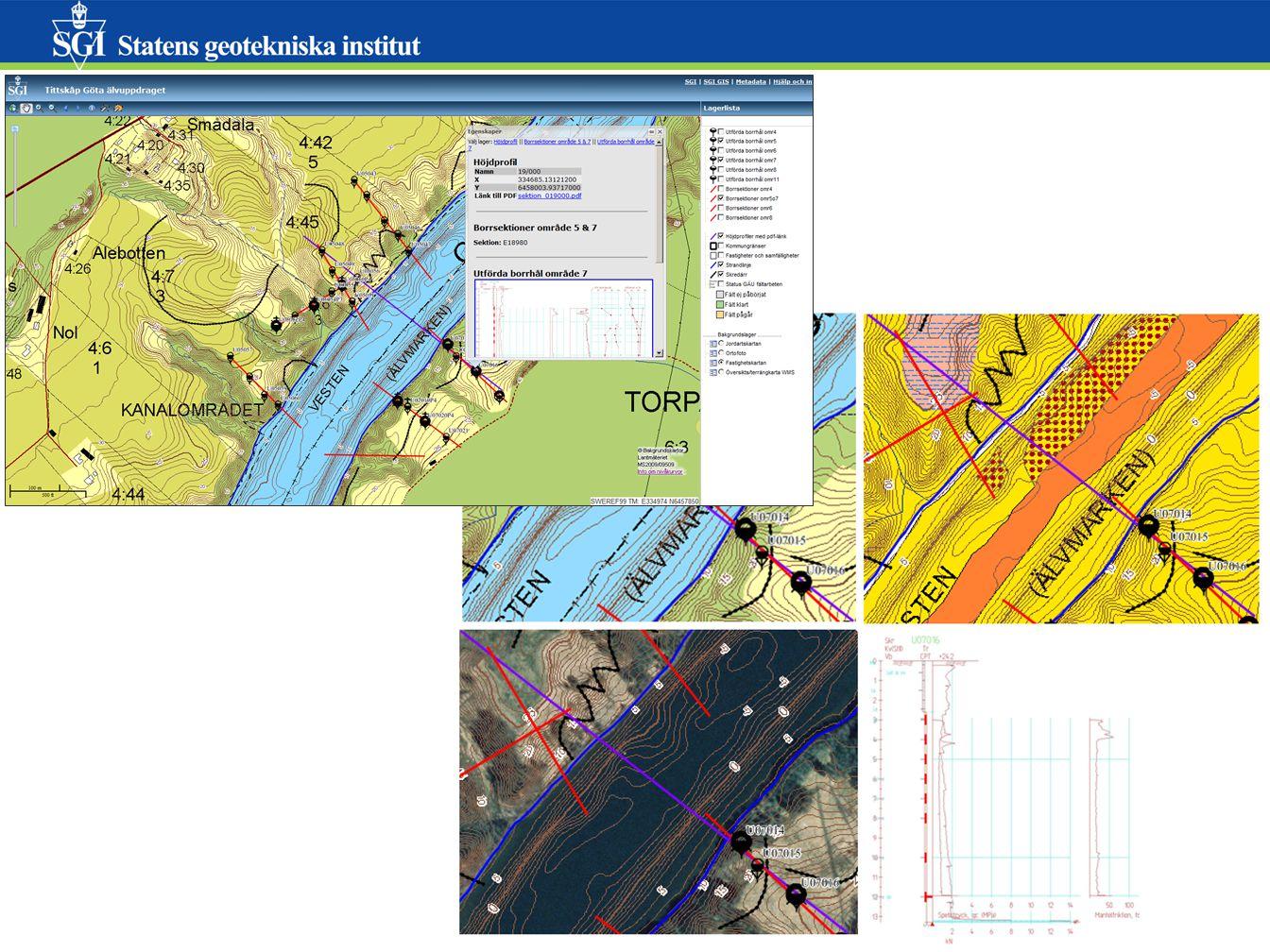 Redovisning av geotekniska undersökningar 1.