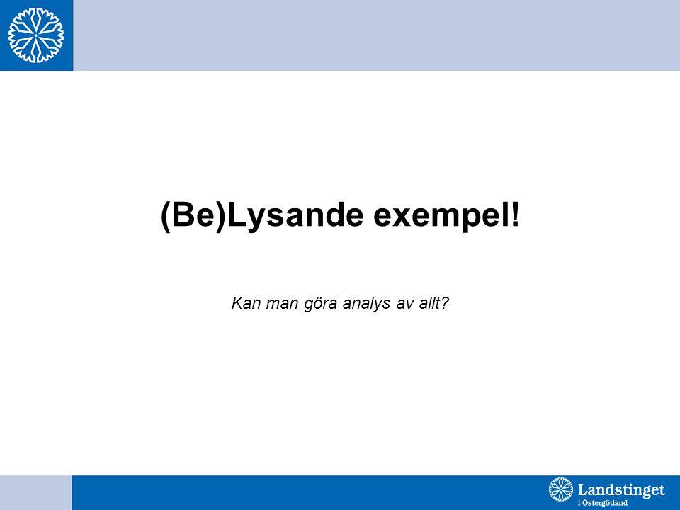 (Be)Lysande exempel! Kan man göra analys av allt