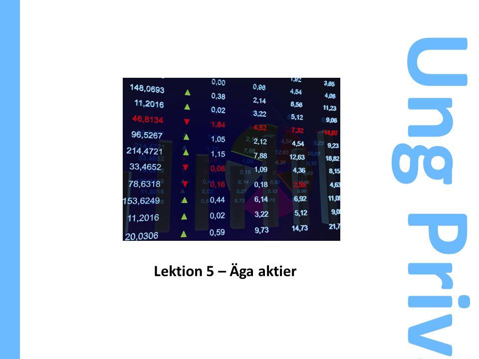 Lektion 5 – Äga aktier Ung Privatekonomi