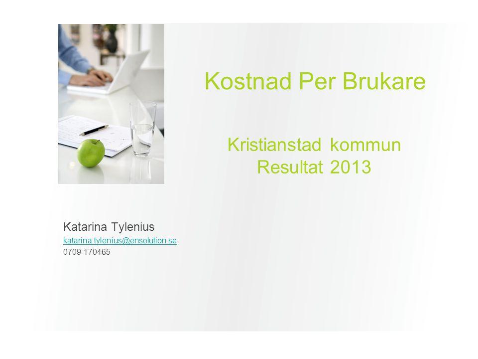 Agenda Introduktion till Kostnad Per Brukare Introduktion till modellen / Förutsättningar Presentation av resultat och nyckeltal Kostnad per brukare 2013 – KPB totalt SOL och LSS – KPB LSS
