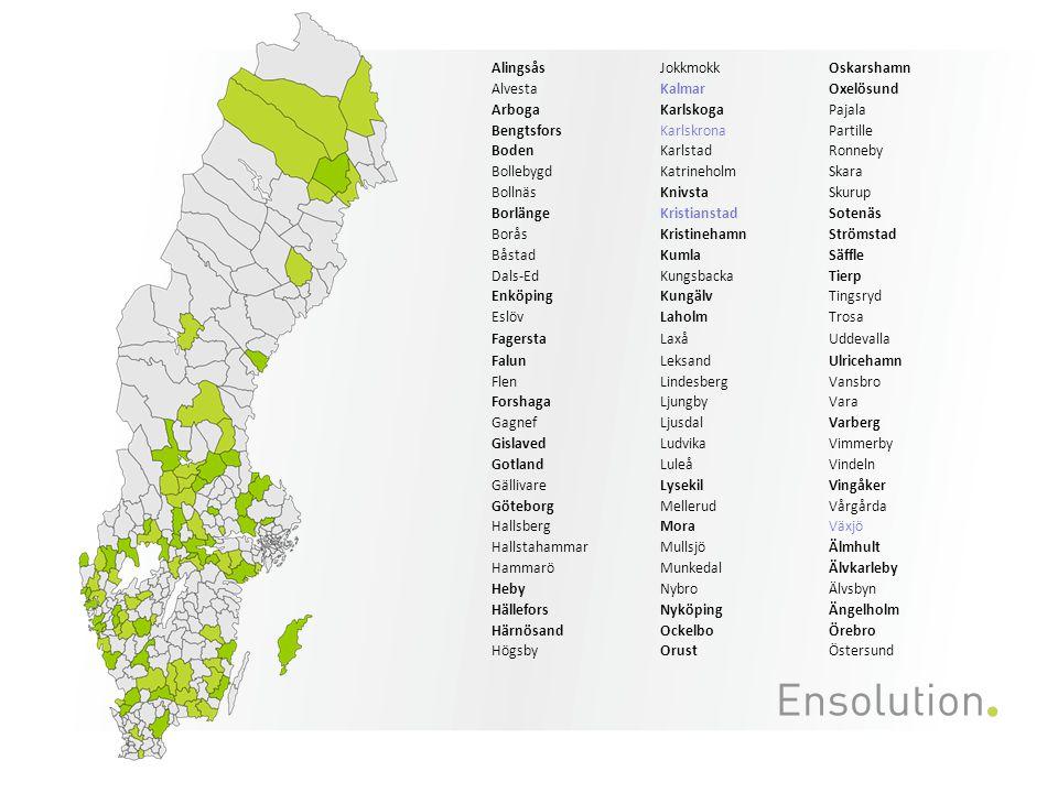 Lokalkostnadens påverkan på enhetskostnaden Bilden visar enhetskostnad daglig verksamhet per dag exkl.