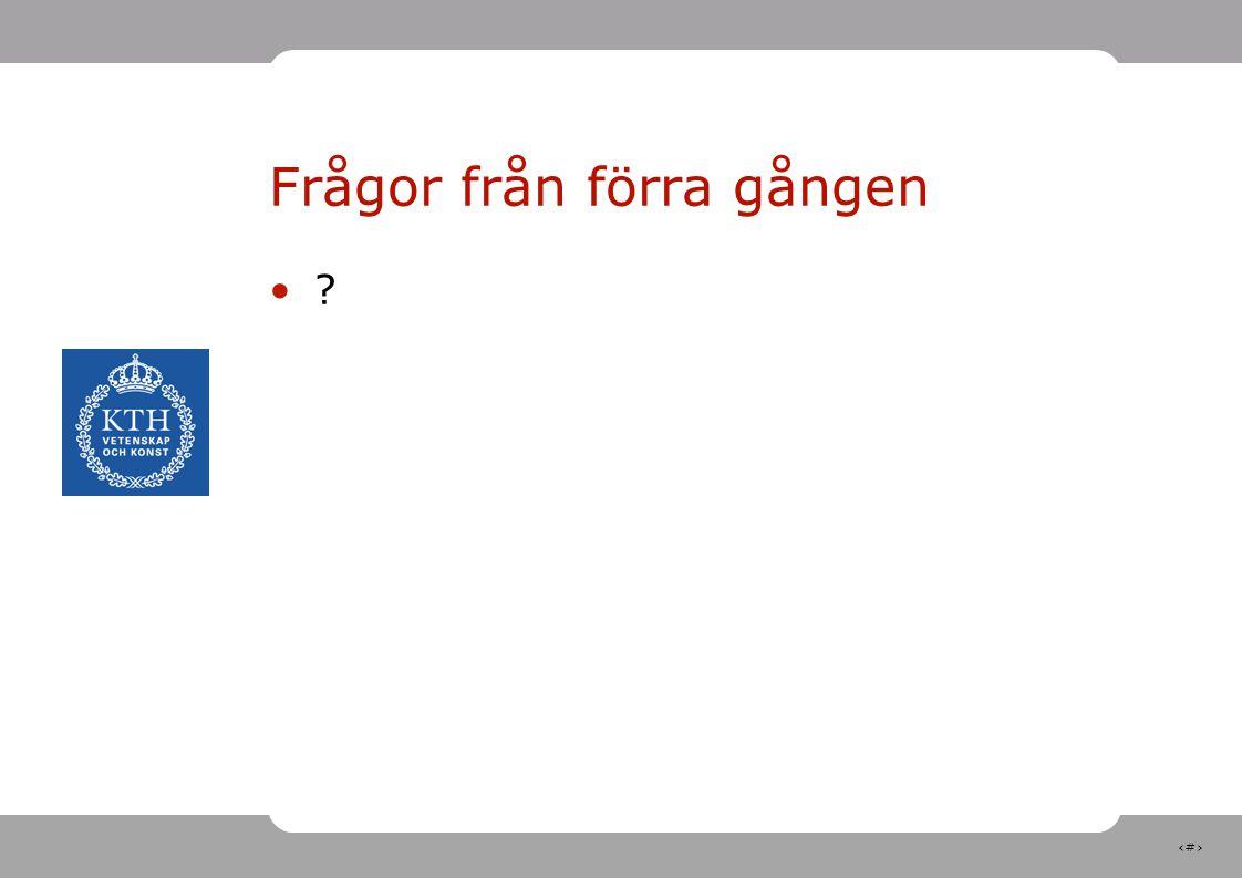 13 Exempel Gauss formel I vårt exempel är F restiden t, x vägsträckan s och y bilens hastighet v Dvs: