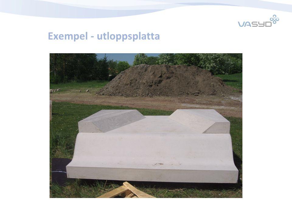 Exempel - utloppsplatta