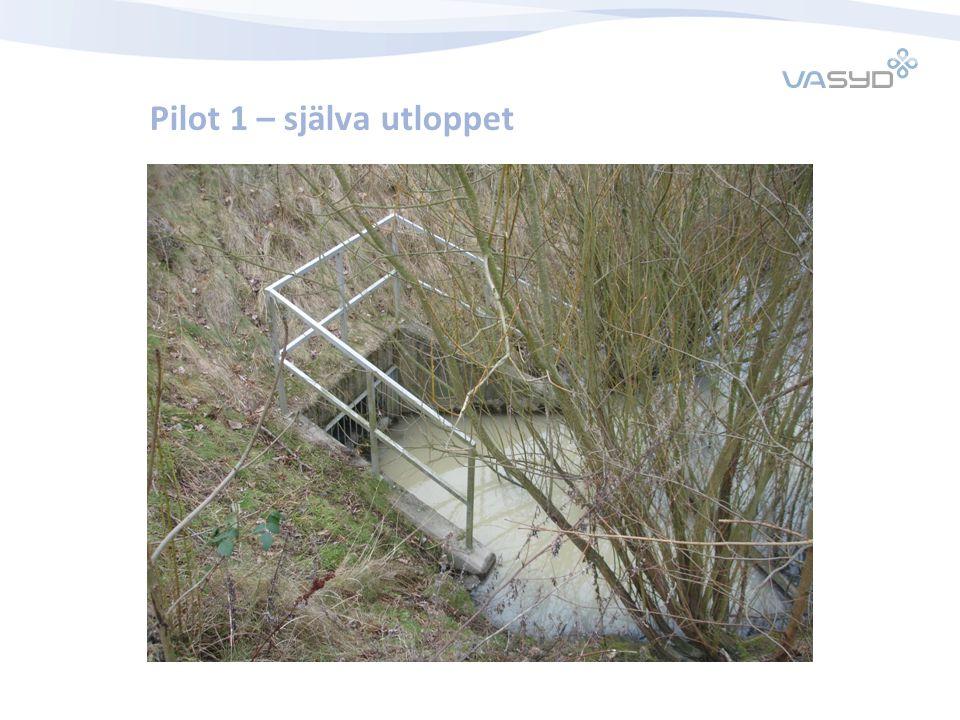 Pilot 1 – själva utloppet