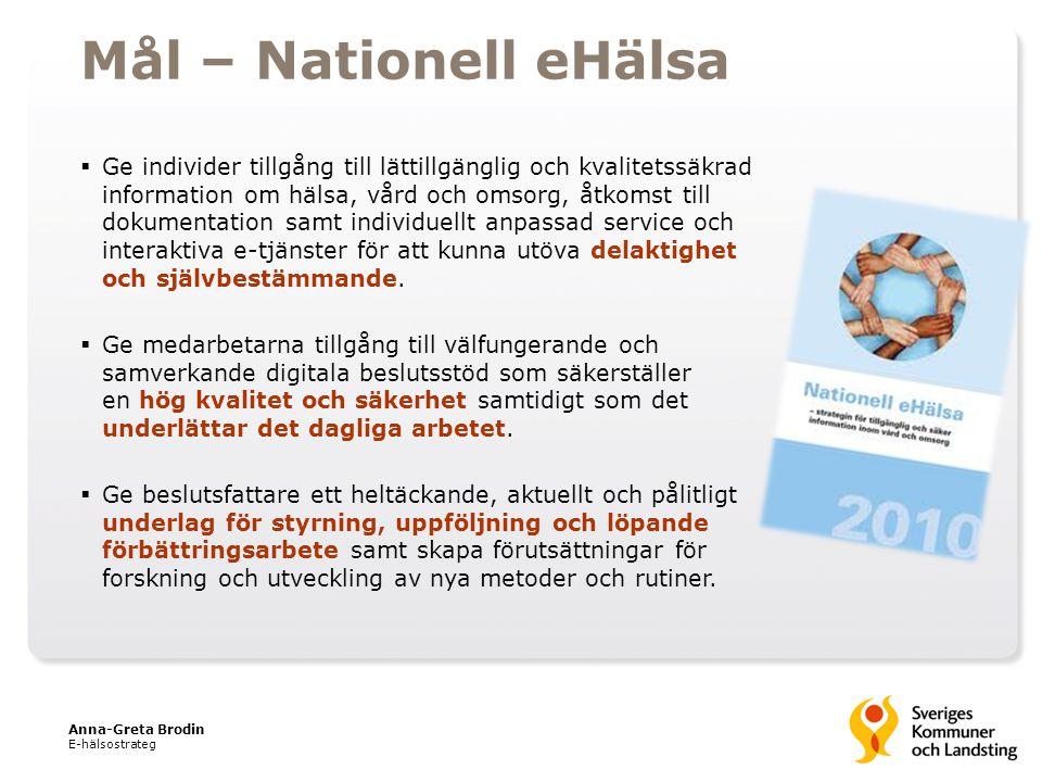  Ge individer tillgång till lättillgänglig och kvalitetssäkrad information om hälsa, vård och omsorg, åtkomst till dokumentation samt individuellt an