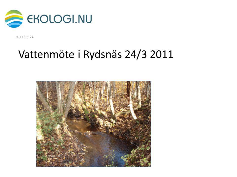 Vattenmöte i Rydsnäs 24/3 2011 2011-03-24