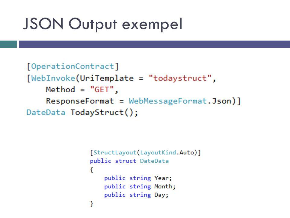 JSON Output exempel