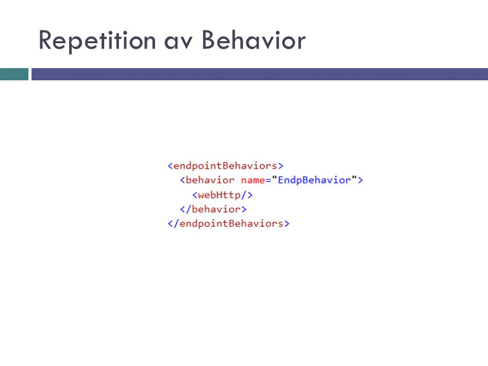 Repetition av Behavior