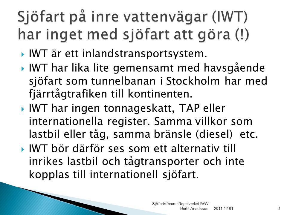  IWT är ett inlandstransportsystem.