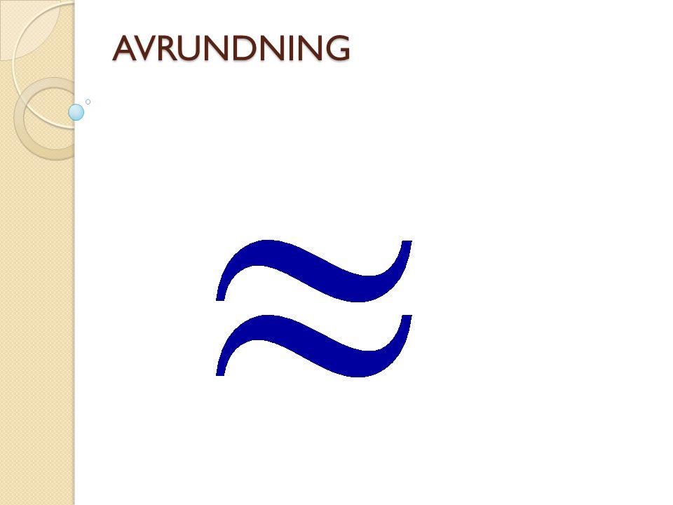 AVRUNDNING