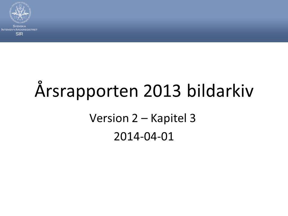 Årsrapporten 2013 bildarkiv Version 2 – Kapitel 3 2014-04-01