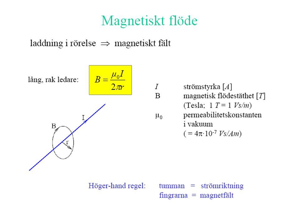 För vävnad med hög specifik ledningsförmåga t ex muskulatur (med ledningsförmågan 0,2 S/m) Blir vid fält med dB/dt = 1 T/s de inducerade strömtätheterna i storleksordningen: • 10 mA/m2 i huvudet med 20 cm diameter • 15 mA/m2 i bålen med diametern 30 cm.