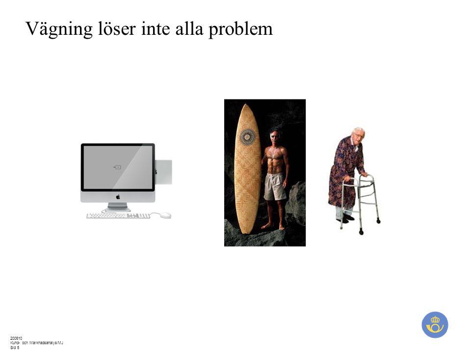 200610 Kund- och Marknadsanalys/MJ Sid 5 Vägning löser inte alla problem
