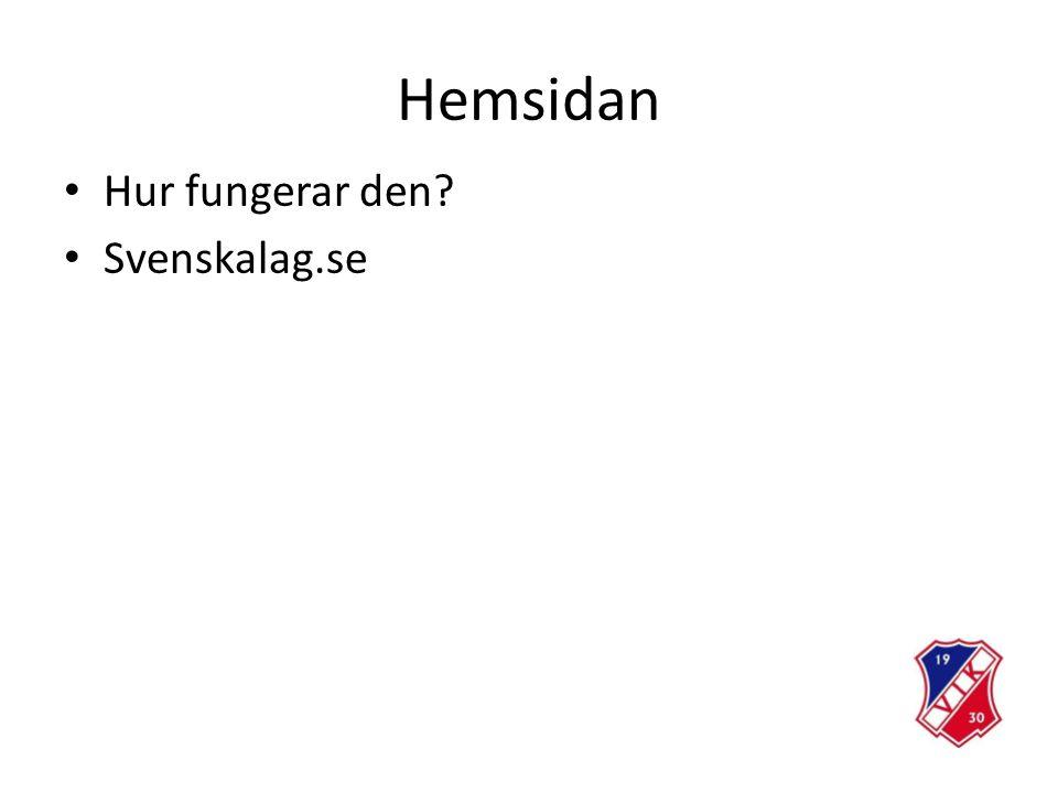 Hemsidan Hur fungerar den Svenskalag.se