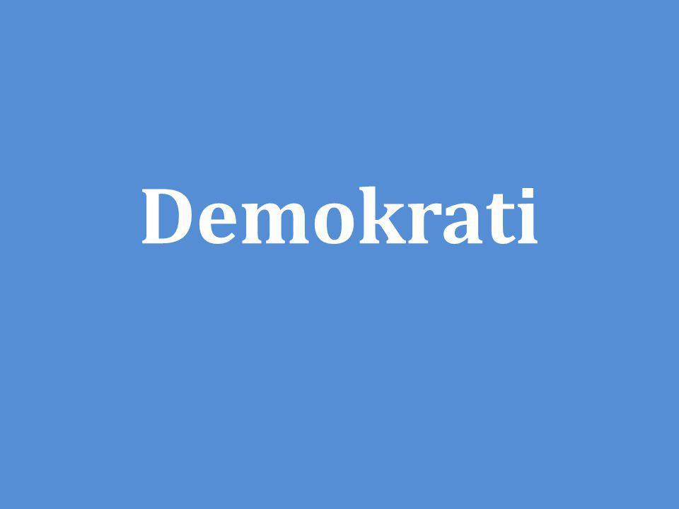 Kännetecken för demokratin De som styr ska utgå från folkviljan = majoriteten.